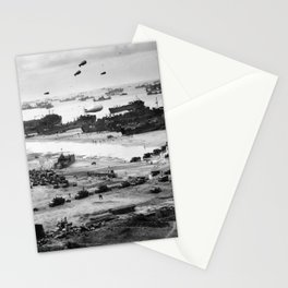 Omaha Beach Resupply - Normandy Invasion - 1944 Stationery Cards