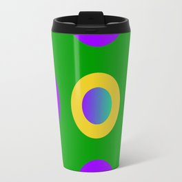 Mardi Gras Polka Dots Travel Mug