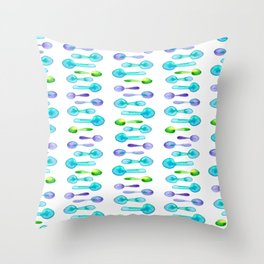 Watercolor Spoon Striped Pattern! Throw Pillow