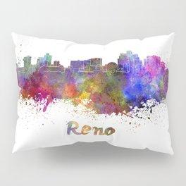 Reno skyline in watercolor Pillow Sham