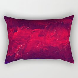 Modern Art - Dark Red Throw Pillow - Jeff Koons Inspired - Postmodernism Rectangular Pillow
