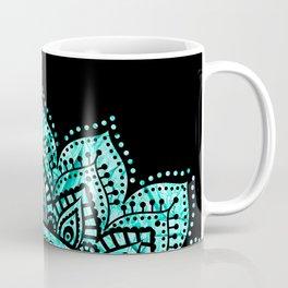 Black teal mandala Coffee Mug