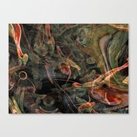 nightmare Canvas Prints featuring Nightmare by Miguel A. Martin