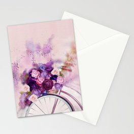 Vintag Bicycle and Flowers Stationery Cards