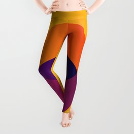 Yellow and Purple 8 (Eight) Leggings