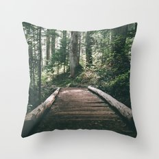 Happy Trails X Throw Pillow