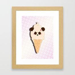 1-Scoop Panda Framed Art Print
