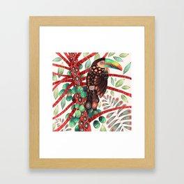 Toucan In A Fruit Tree Framed Art Print
