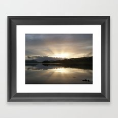 Last Rays Framed Art Print
