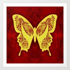 Henna Butterfly No. 5 Art Print