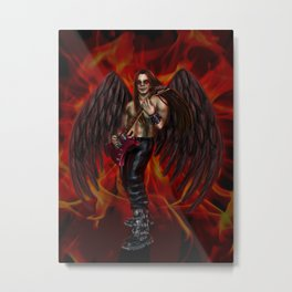 Hell Rocker Metal Print