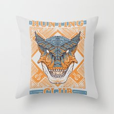 Hunting Club: Tigrex Throw Pillow
