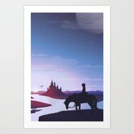 Prince Todoroki Landscape Art Print