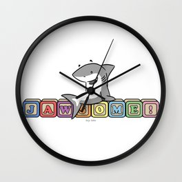 Shark Baby Blocks Wall Clock