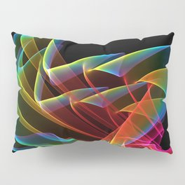 Dancing Northern Lights, Abstract Summer Sky Pillow Sham