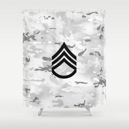 Staff Sergeant (Winter Camo) Shower Curtain
