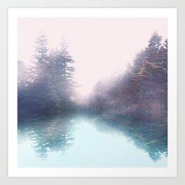 Calm reflexion Art Print