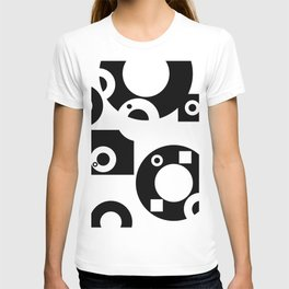 Black& White Rings Rectangle T-shirt