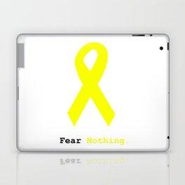 Fear Nothing: Yellow Awareness Ribbon Laptop & iPad Skin