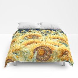 Vintage Garden (Sunflower Paradise) Comforters