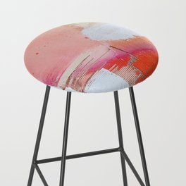 Moving Mountains: a minimal, abstract piece in reds and gold by Alyssa Hamilton Art Bar Stool