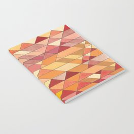 Triangle Pattern no.4 Warm Colors Red and Yellow Notebook