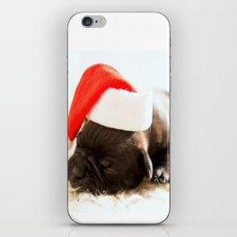 Christmas dog iPhone Skin