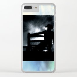 Cowboy In The Misty Night Clear iPhone Case