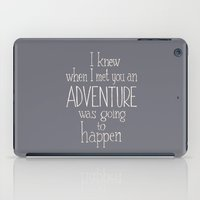 """winnie the pooh iPad Cases featuring Winnie the Pooh quote  """"ADVENTURE""""  by SimpleSerene"""