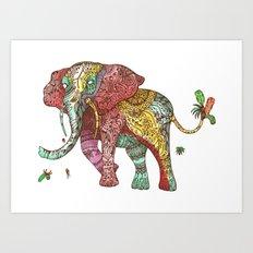 Elephant Ini Art Print
