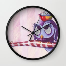 Sweet Owl Wall Clock