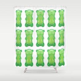 gummy bears green grape flavor Shower Curtain