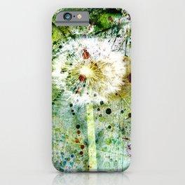 Springtime dandelion iPhone Case