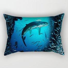 big and small fish Rectangular Pillow