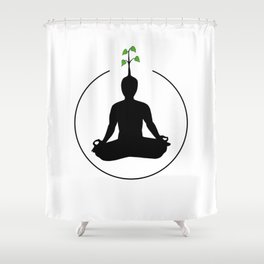 Meditation and ideas Shower Curtain
