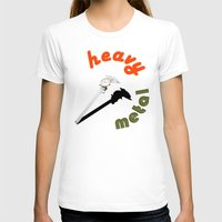 heavy metal T-shirts featuring Heavy metal by Michael Mann