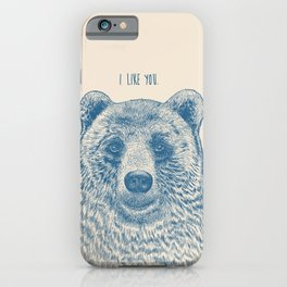 Bear (Ivory) iPhone Case