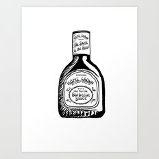 Home Grown BBQ Art Print