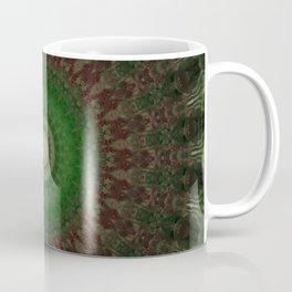 Mandala in dark red and green colors Coffee Mug