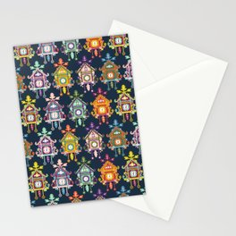 Colorful Cuckoo Clocks Stationery Cards