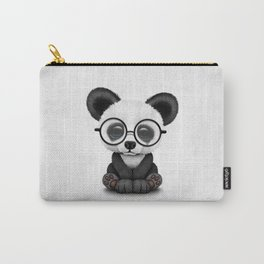 Cute Panda Bear Cub with Eye Glasses Carry-All Pouch