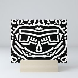 Sardonic smile, b&w ... Mini Art Print
