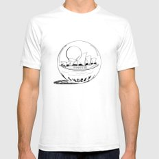 Sydney in a glass globe Mens Fitted Tee SMALL White