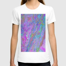 Pink Turquoise Pour T-shirt