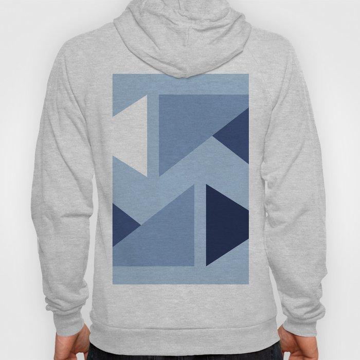 Indigo modern triangle design Hoody