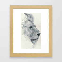 Lions. Framed Art Print