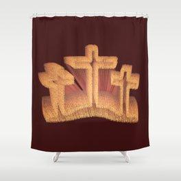 Three Crosses at Calvary Shower Curtain