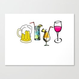Pick Your Poison Boozy Drinks Canvas Print