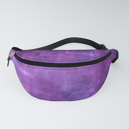 Abstract Purple Squares Digital Painting Fanny Pack