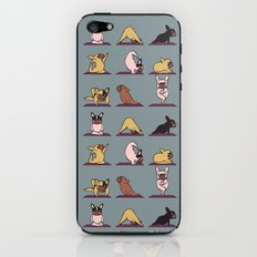 Frenchie Yoga iPhone & iPod Skin